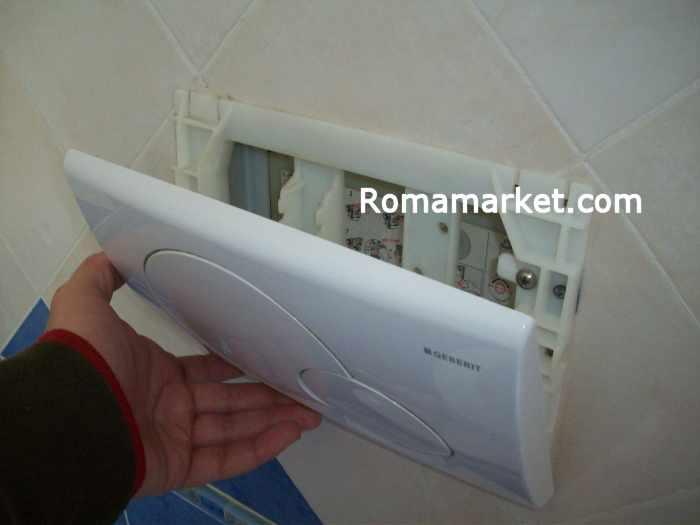 Riparazione la cassetta del wc scarico incassato geberit - Cassetta bagno geberit ...